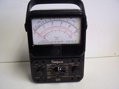 Simpson 260 Series 6 Multimeter With Manual