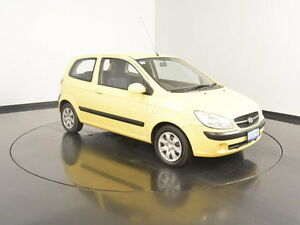 2009 Hyundai Getz TB MY09 S Sheer Yellow 5 Speed Manual Hatchback Victoria Park Victoria Park Area Preview