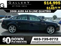 2008 Audi A4 2.0T QUATTRO $149 bi-weekly APPLY NOW DRIVE NOW