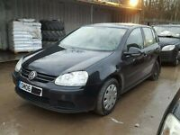 VOLKSWAGEN GOLF MARK 5 2004-2009 BREAKING FOR SPARES TEL 07814971951 HAVE DIFFERENT COLOURS DO CALL