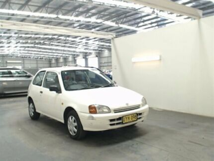 1998 Toyota Starlet EP91R Life White 5 Speed Manual Hatchback