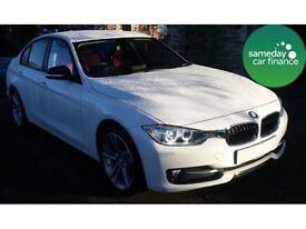 BMW 3 Series 320d Sport Saloon (white) 2012