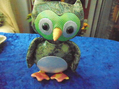 """Owl Useful for a  Paperweight etc. 7"""" tall So Pretty & Weighty Made in Material"""