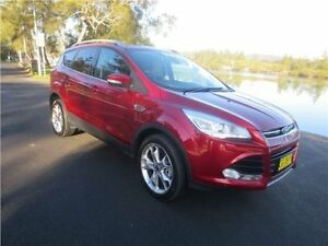 2015 Ford Kuga TF MY15 Titanium PwrShift AWD Ruby Red 6 Speed Sports Automatic Dual Clutch Wagon Cardiff Lake Macquarie Area Preview
