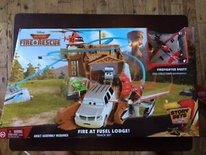 Disney planes fire & rescue track set fire at fusel lodge new