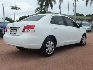 2008 Toyota Yaris NCP93R YRS White 5 Speed Manual Sedan