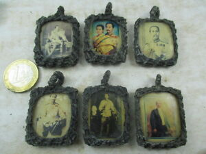 rarit t k nig rama v 6 alte foto hinter glas amulett. Black Bedroom Furniture Sets. Home Design Ideas