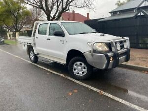 2008 Toyota Hilux KUN26R MY08 SR White 5 Speed Manual Cab Chassis Hawthorn Mitcham Area Preview