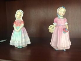 Royal Doulton Tinkerbell and Tootles figures