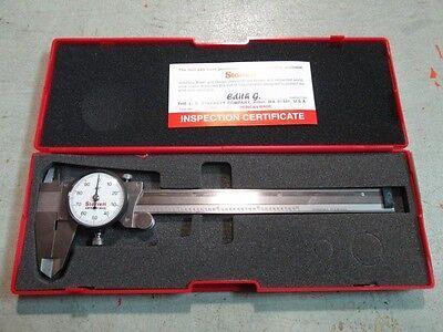 Starrett 120a-6 Dial Caliper 0-6 White Dial Face Made In Usa