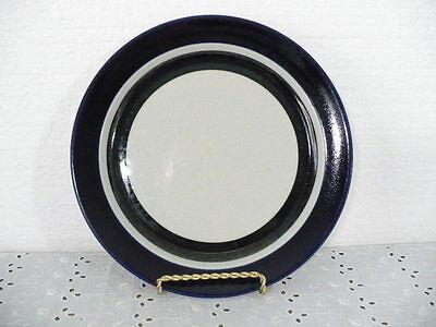 "Arabia Finland Saara 9-1/2"" Luncheon Plate in beautiful pattern with cobalt trim"