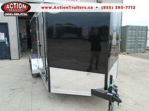 ENCLOSED 7 X 14' CARGO TRAILER - SCREWLESS EXTERIOR GREAT DEAL!