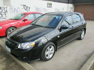 2006 Kia Cerato LD MY07 EX Black 4 Speed Automatic Hatchback Tottenham Maribyrnong Area Preview