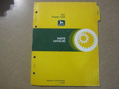 John Deere 341 Engine Power Units Parts Manual