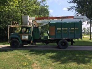 forestry boom bucket truck