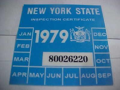 new york 1979 inspection sticker windshild