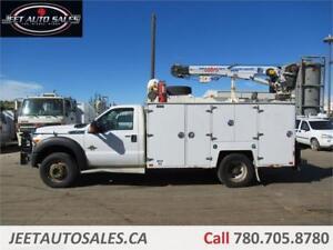 2011 Ford F-550 DRW XLT Service Truck, VMAC, Crane 6.7L Diesel