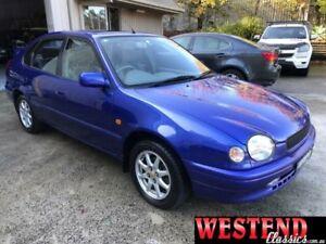 1999 Toyota Corolla AE112R CS-X Blue 4 Speed Automatic Liftback Lisarow Gosford Area Preview