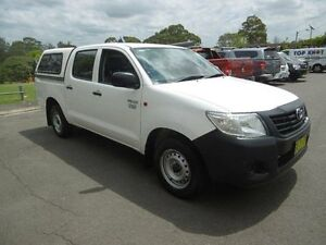2013 Toyota Hilux TGN16R MY12 Workmate White 4 Speed Automatic Dual Cab Pick-up Yagoona Bankstown Area Preview