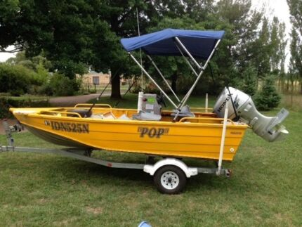 Great fishing boat excel cond stable 2m beam quiet reliable Orange Orange Area Preview