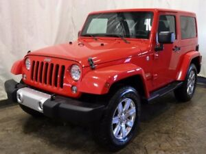 2015 Jeep Wrangler Sahara 2dr 4WD w/ Leather, Navigation, 2 Tops