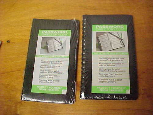 2 Black Personal Password Directory User ID Password Books Container Store FSHIP