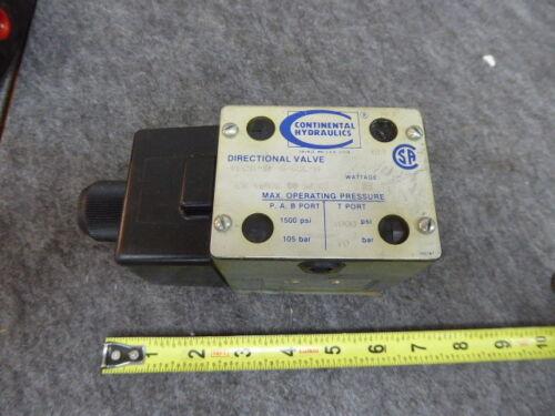 Continental VS12M-5F-G-68L-H Hydraulic Directional Valve