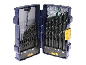 Irwin-HSS-High-Speed-Steel-Metal-Drill-Bit-Set-15-Piece-1-5mm-10mm-Jobber-Case