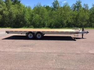 "NEW 2018 K-TRAIL 102"" x 24' HD GALVANIZED DECK-OVER TRAILER"