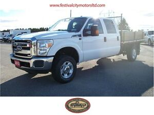 2012 Ford F-350 Crew Cab 4x4 9' Flatbed | CERTIFIED