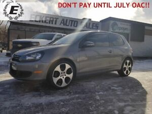 2013 VOLKSWAGEN GOLF TRENDLINE  2.5L DON'T PAY FOR 6 MONTHS OAC!