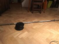 Barbell & 4x5kg disc weights