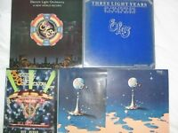 ELO lps , signed history by Bev Bevan, Programme as shown
