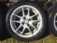 """15"""" MAG WHEELS + TYRES - FIT CIVIC COROLLA PULSAR LANCER  4x100 Keperra Brisbane North West Preview"""