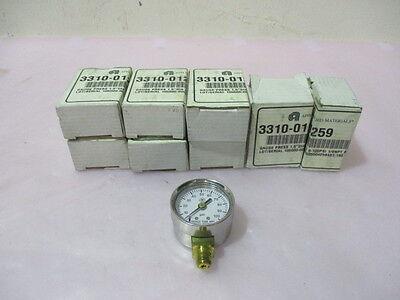 "8 new AMAT 3310-01259 gauge press 1.5"" D/A 0-100PSI 1/8NPT BO"