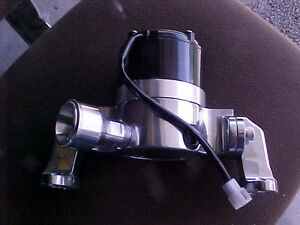 SBC CHEVY CHROME ELECTRIC WATER PUMP HIGH VOLUME PERFORMANCE