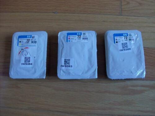 GENUINE SET 3 HP #72 PRINTHEADS DESIGNJET T610 T1100 C9380A C9383A C9384A NEW
