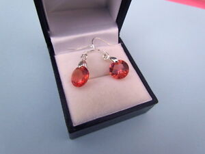 925 Sterling Silver and Orange Red  pink CZ Cry