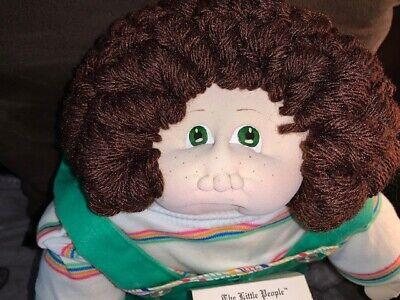 Xavier Roberts Soft Sculpture Little People 1980 Boy Brown Curls Freckles NM