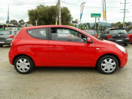 2011 Hyundai i20 PB MY12 Active Red 4 Speed Automatic Hatchback Bayswater North Maroondah Area Preview
