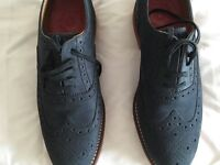 Beautiful Grenson (NEVER WORN!!) Navy Suede shoes Size 9G with hard wearing rubber soles 1/2 Price