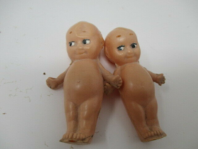 Lot of 2 Vintage Kewpie Dolls w/Angel Wings & Starfish Hands