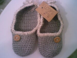 Hand Made Slippers     -Loops and Things