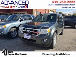 2009 Ford Escape XLT - $75.71/WEEK*o.a.c. + HST & Lic.