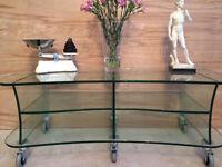 Glass display / shop /display magazine shelf / coffee table / Toughned Glass12mm