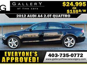 2012 Audi A4 2.0T QUATTRO $159 bi-weekly APPLY NOW DRIVE NOW