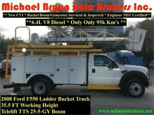 2008 FORD F550 35FT LADDER BUCKET TRUCK *VERY RARE* ONLY 95K