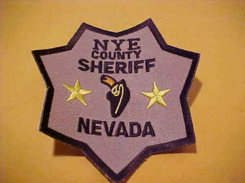 NYE COUNTY NEVADA POLICE PATCH SHOULDER SIZE UNUSED
