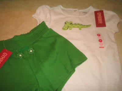 NWT Girls Gymboree Shorts and Top Set - Size 3T