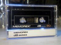 MEMOREX DB 90 (1985-1986) CASSETTE TAPES. 2 for £1.